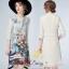 เสื้อผ้าแฟชั่นเกาหลีพร้อมส่งด้านหลังเป็นชีฟองสีครีม thumbnail 1