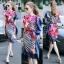 Lady Ribbon Online ขายส่งเสื้อผ้าแฟชั่นออนไลน์ เสื้อผ้า Normal Ally NA11080816 &#x1F389Normal Ally Present Elegance Silp scarf dress&#x1F389 (เดรสคลุม + เชือกพันรอบเอว) thumbnail 1