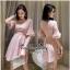 เดรสผ้าลูกไม้เกาหลีสีชมพู thumbnail 3