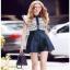 Lady Ribbon Lace and Silk Playsuit เพลย์สูทขาสั้น thumbnail 3