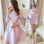 Lady Ribbon Online ขายส่งเสื้อผ้าออนไลน์ Very very pretty VP04030816 Luxury Lace Cut-Out Embroidered Pearls Dress เดรสผ้า thumbnail 2