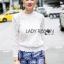 Lady Ribbon Online ขายส่งเสื้อผ้าออนไลน์ ขายส่งของแท้พร้อมส่ง Lady Ribbon LR02050716 &#x1F380 Lady Ribbon's Made &#x1F380 Lady Becca Smart Elegant High-Neck White Lace Blouse thumbnail 3