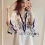 Lady Ribbon Online เสื้อผ้าออนไลน์ขายส่ง lady ribbon เสื้อผ้า LR14150816 Lady Rachel Summery Classic Dress เดรสปักและตกแต่งลาย thumbnail 2