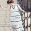 Lady Ribbon Aerin Black and White Lace Dress thumbnail 4