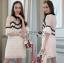 Lady Ribbon Mini Dress เดรสผ้าลูกไม้สีขาว-ดำ thumbnail 4