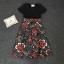 เสื้อผ้ายืดสีดำกระโปรงลายดอกไม้ thumbnail 4