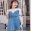 Lady Ribbonc Lace and Denim Mini Dress thumbnail 3
