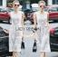 Lady Ribbon Online เสื้อผ้าออนไลน์ ขายส่งของแท้ราคาถููก LR06110716 &#x1F380 Lady Ribbon's Made &#x1F380 Lady Katy Smart Casual White Guipure Lace Jumpsuit thumbnail 1