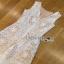 Lady Ribbon Lace Jumpsuit จัมป์สูทสีขาว thumbnail 4