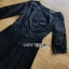 Black Cotton Pleated Dress Lady Ribbon เดรสดำ thumbnail 6