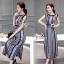 Lady Ribbon Online เสื้อผ้าแฟชั่นออนไลน์ขายส่ง เลดี้ริบบอนของแท้พร้อมส่ง sevy เสื้อผ้า SV03240716 &#x1F389Sevy Northern Silk Pattern Open Leg Maxi Dress thumbnail 3