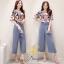 ชุดเซท เสื้อผ้าแฟชั่นเกาหลีพร้อมส่งเสื้อ+กางเกง thumbnail 1