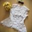 VP03310816 Florals Lace Vintage Chic Embroidery Blouse เสื้อลูกไม้แขนล้ำงานลูกไม้ทอฉลุลายดอกไม้ทั้งตัว thumbnail 6