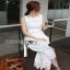 Lady Ribbon Lace Jumpsuit with Ribbon thumbnail 6
