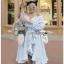 Cotton Dress Lady Ribbon เดรสผ้าลายทาง thumbnail 5