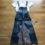 Lady Ribbon Tanya White T-Shirt Denim and Lace Overall Dress เอี้ยมยีนส์เสื้อยืด thumbnail 7