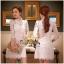 Lady Ribbon Online เสื้อผ้าออนไลน์ขายส่ง very very pretty เสื้อผ้า VP01140816 Luxury Lace White embroidery see-through Dress thumbnail 1