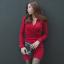 เดรสแฟชั่นเกาหลีคอวีมีปก มี2สี 2ไซส์ thumbnail 1