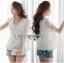 Lady Ribbon Online ขายส่งเสื้อผ้าออนไลน์เลดี้ริบบอน LR14010816 &#x1F380 Lady Ribbon's Made &#x1F380 Lady Maria Elegant Double-Breast White Lace Jacket แจ๊คเก็ต thumbnail 1