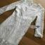 Lace Ruffle Dress Lady Ribbon เดรสลูกไม้สีขาว thumbnail 8