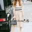 Lady Ribbon Online เสื้อผ้าออนไลน์ขายส่ง Normal Ally เสื้อผ้า,NA08220816 &#x1F389Normal Ally Present new collection boutique pendulum striped linen shirt wide leg pants set&#x1F389 (เสื้อ + กางเกง) thumbnail 2