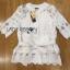 Lady Ribbon Online ขายส่ง เสื้อผ้าออนไลน์ ของแท้ ราคาถูกพร้อมส่ง เลดี้ริบบอน LR01140716 &#x1F380 Lady Ribbon's Made &#x1F380 Lady Elena Elegant Chic Button-Down White Lace Blouse with Ribbon thumbnail 6