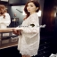 Floral White Lace Dress เรียบหรูสวยหวานด้วยเดรสทรงแขนบาน thumbnail 5