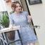 Lady Ribbon Lace Dress in Light Blue thumbnail 3