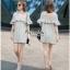 VP02310816 Luxury Floral Embroidery MINI Dress มินิเดรสสไตล์เกาหลี น่ารักมากค่ะ thumbnail 2