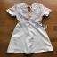 White Lace and Crepe Mini Dress Lady Ribbon มินิเดรส thumbnail 7