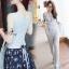 Lady Ribbon Online เสื้อผ้าแฟชั่นออนไลน์ขายส่ง เลดี้ริบบอนของแท้พร้อมส่ง sevy เสื้อผ้า SV13240716 BEST SELLER-Restock &#x1F389Sevy Two Pieces Of Casual Knit Vest With Pants Sets thumbnail 2