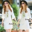 NA10010916 &#x1F389Normal Ally Present White boutique autumn classic dress&#x1F389 (เดรส , มีซับในอย่างดี ,ซิปข้าง) thumbnail 1