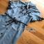 Lady Ribbon Chic Black Flower Denim Shirt Dress thumbnail 6