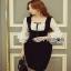 Lady Ribbon Aerin Babydoll Black & White Polkadot Dress thumbnail 3
