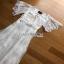 White Lace Maxi Dress Lady Ribbon เดรสยาว thumbnail 4