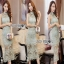 Lady Ribbon Pastel Lace Body Con Dress thumbnail 1