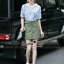 Lady Ribbon Online ขายส่งเสื้อผ้าแฟชั่นออนไลน์ เสื้อผ้า Normal Ally NA10080816 &#x1F389Normal Ally Present Pineapple print shirt striped and army tone skirt set&#x1F389 thumbnail 5