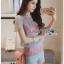 Lady Ribbon Online ขายส่ง เสื้อผ้าออนไลน์ ของแท้ ราคาถูกพร้อมส่ง เลดี้ริบบอน LR13140716 &#x1F380 Lady Ribbon's Made &#x1F380 Lady Rachel Rainbow Pastel Striped Lace Set thumbnail 3