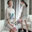 VP05310816 Luxurious White Silk Embroidered Shirt Dress เดรสเชิตงานปักสไตล์วินเทจสวยมาก thumbnail 2