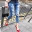 กางเกงยีนส์แฟชั่นแต่งรอยขาด แบรนด์เกาหลี Daisy thumbnail 15