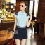 Lady Ribbon Online เสื้อผ้าออนไลน์ขายส่ง Normal Ally เสื้อผ้า NA04150816 &#x1F389Normal Ally Present flower lace decorate shirt and pant set&#x1F389 (เสื้อแต่งลูกไม้บ่า+กางเกงกระโปรงแต่งเชือกเปียเอว) thumbnail 2