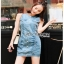 Lady Ribbon Denim Mini Dress มินิเดรส thumbnail 2