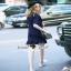 Seoul Secret Colar Navy Knit Dress thumbnail 3