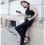 Black Crepe Jumpsuit Lady Ribbon จั้มป์สูทสีดำ thumbnail 4