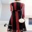 Lace Dress เดรสยาวลูกไม้นิ่มแดงดำ thumbnail 4