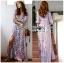 Lady Ribbon Maxi Dress เดรสยาวผ้าเครปสีฟ้า thumbnail 1