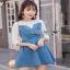 Lady Ribbonc Lace and Denim Mini Dress thumbnail 5