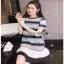 Lady Ribbon Black & White Dress เดรสสีขาว-ดำ thumbnail 4