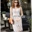 Guipure Lady Ribbon Lace Dress ขายเดรสผ้าลูกไม้ thumbnail 1
