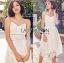 Lady Ribbon Online เสื้อผ้าออนไลน์ขายส่ง Lady Ribbon เสื้อผ้า LR07180816 &#x1F380 Lady Ribbon's Made &#x1F380 Lady Olivia Pure and Classic Strappy White Lace Dress thumbnail 1